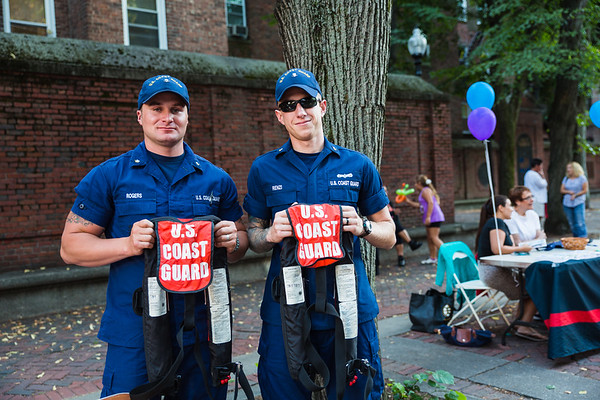 Scott and Damien from the US Coast Guard at National NIght Out