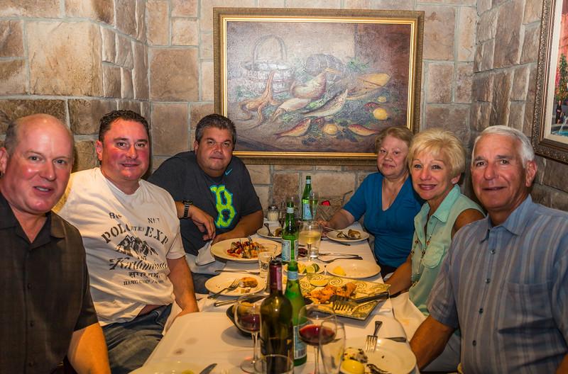 (L-R) Mark, Paolo, Rocco, Matalina, Lorraine and Daniel