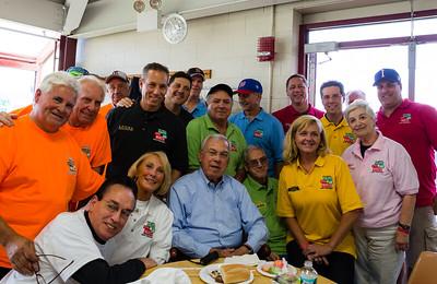 Taste of the North End Bocce Teams Gather Around Mayor Thomas M. Menino