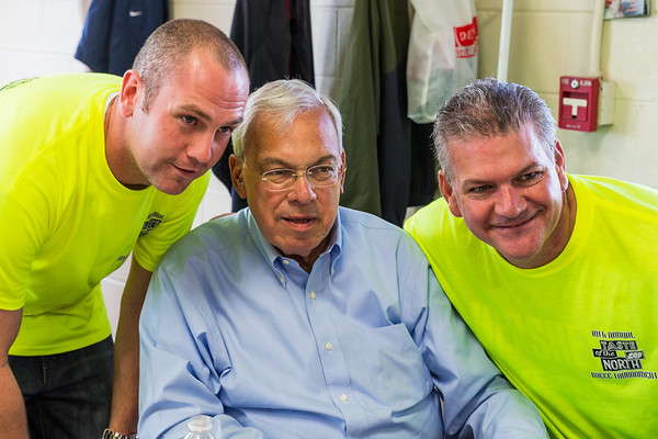 Ryan Gentille (left), Mayor Tom Menino (center) and Chris Zizza