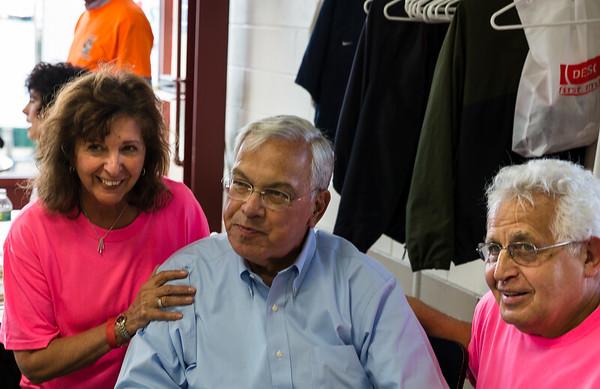 Mayor Thomas Menino (center) with Pam Donnaruma and Lou Graffeo