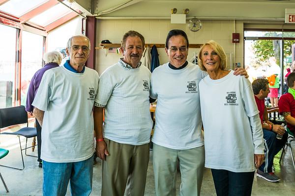 White team spirit - Tony, Guy, Bob and Peggy