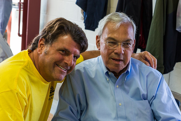 Joe Piantedosi (left) and Mayor Thomas Menino
