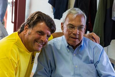 Joe Piantedosi (left) and Mayor Thomas Menino