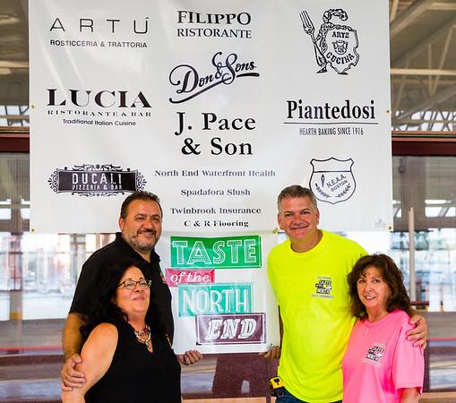 Organizers of the Bocce Tournament for Taste of the North End: Donato Frattraoli, Chris Zizza, Pam Modugno and Pam Donnaruma