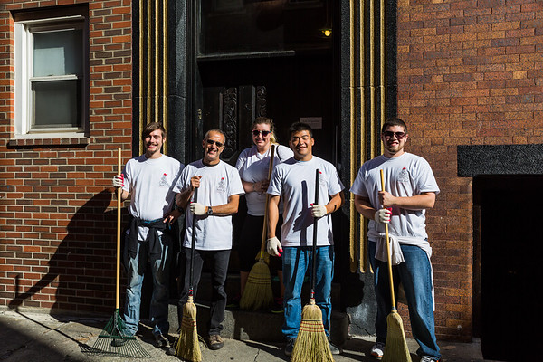 Residents and Suffolk students join to cleanup Jerusalem Place
