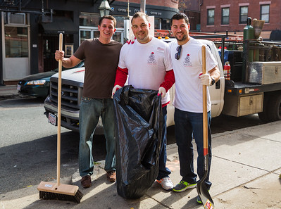 The Tiberi brothers from Aria and Core Property Group and friend cleaning up Richmond Street