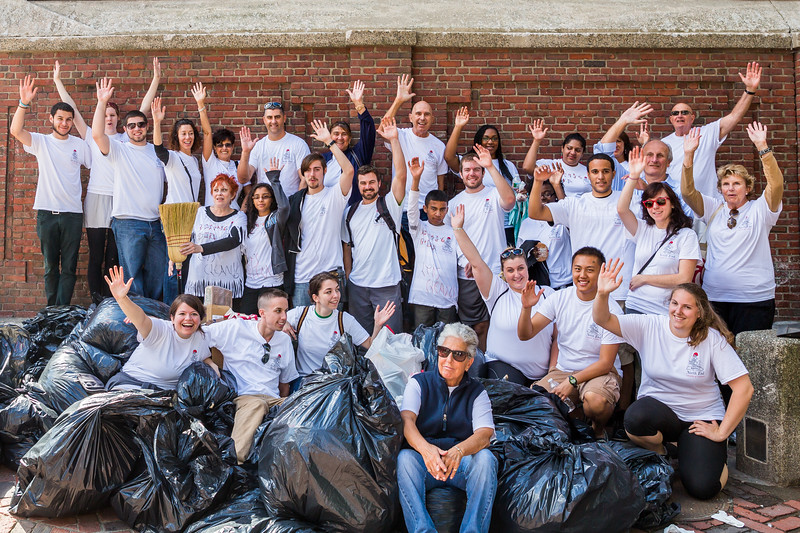 Lots of energy by volunteers at Operation Cleanup sponsored by the North End Chamber of Commerce