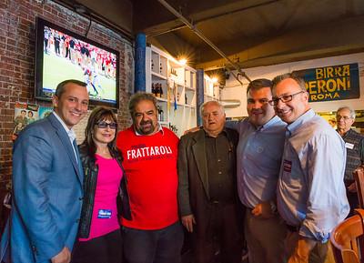(L-R) Rep. Aaron Michlewitz, Kathy Carangelo, Filippo Frattaroli, Rocco DiRenzio, Philip Frattaroli and Councilor Sal LaMattina