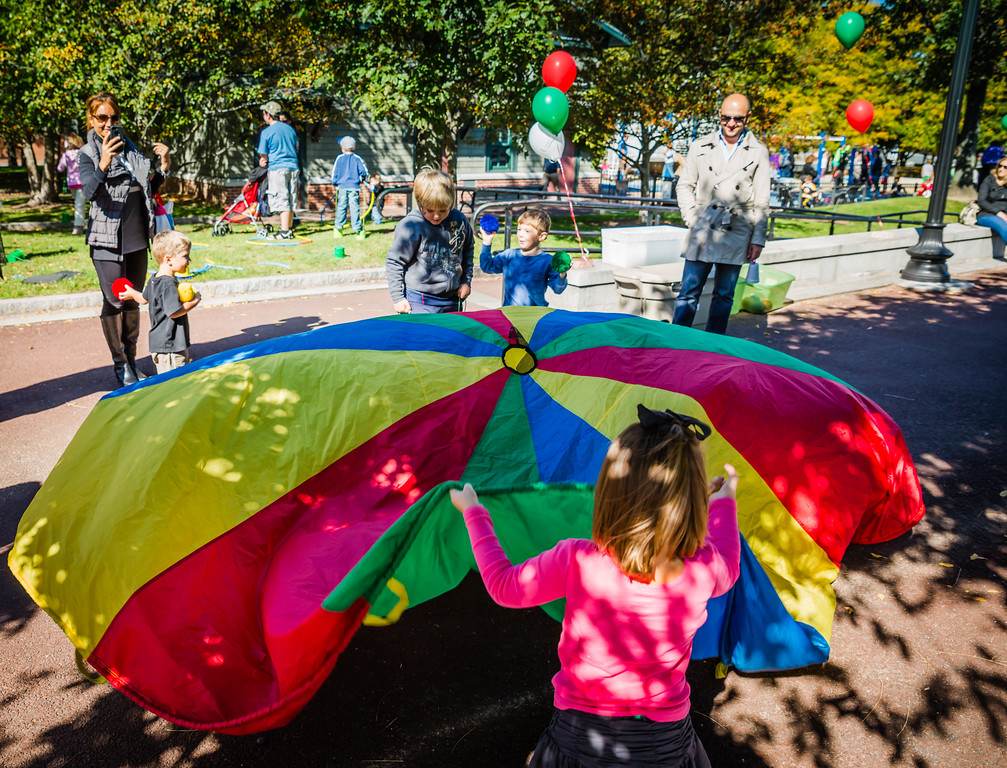 Colorful canopy fun at the park