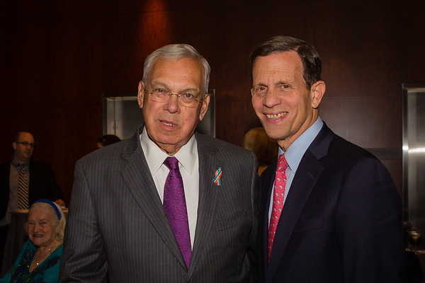 Mayor Thomas Menino (left) and State Treasurer Steve Grossman