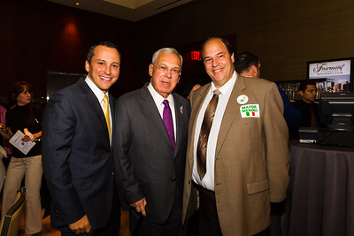 (L-R) Rep Aaron Michlewitz, Mayor Thomas Menino and John Romano