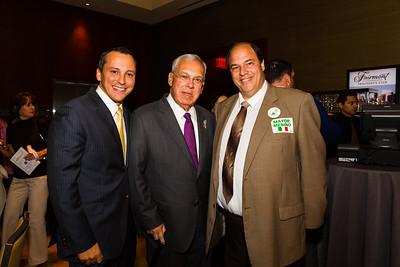 (L-R) Rep Aaron Michlewitz, Mayor Thomas Menino and John Romano