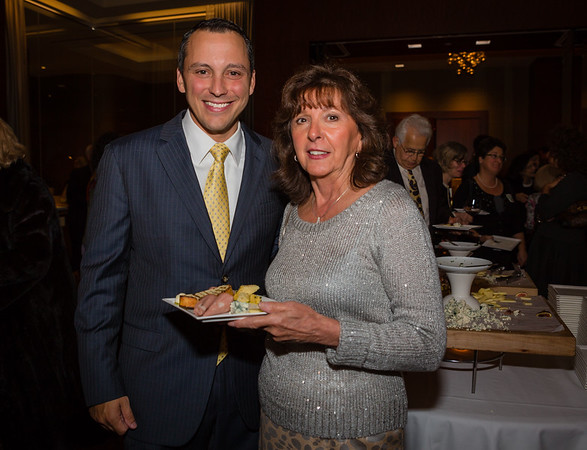 Rep Aaron Michlewitz and Post Gazette Publisher Pam Donnaruma