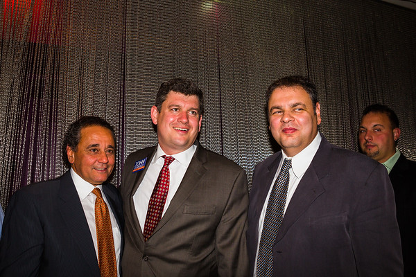 Nasser Buisier (left), Mayoral Candidate John Connolly (center) and Masoud Buisir