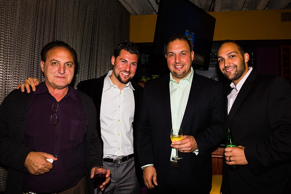 The Tiberi Brothers (center) and friends at  John Connolly's campaign event