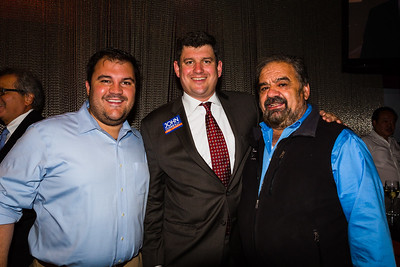 Philip Frattaroli (left), Mayoral Candidate John Connolly (center) and Filippo Frattaroli