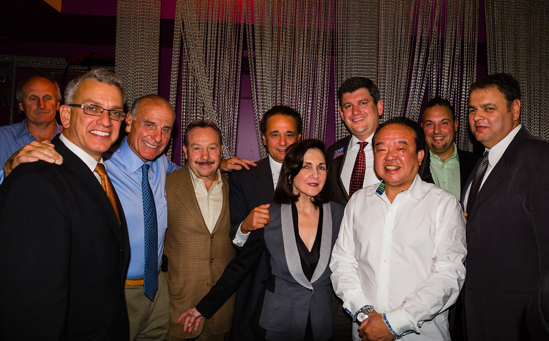 Supporters of Mayoral Candidate John Connolly (L-R) Frank DePasaquale, Paul Scapicchio, Stephen DeAngelis, Vito Ascolillo, Nasser Buisier, Carmela Laurella, John Connolly, Billy Tse, Massimo Tiberi and Masoud Buisir