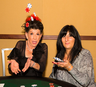 Flying Chips at the Poker Table with Barbara and Diane