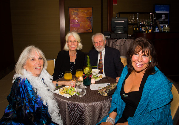 (L-R) Ann Babbit, Patricia and Norman Sabbey with Frankie Boyer