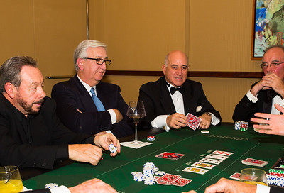 The guys playing poker at FOCCP Monte Carlo Night