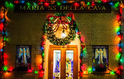 Madonna Della Cava Christmas Display