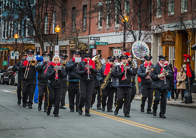 Marching Band in the North End Christmas Parade