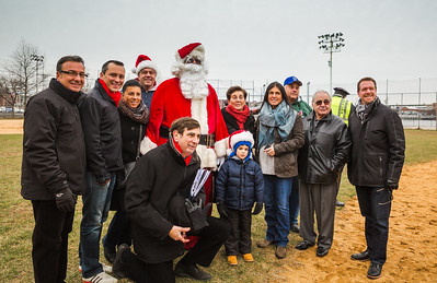 Pallotta Family join with elected officials, NEAA organizers and Santa Claus