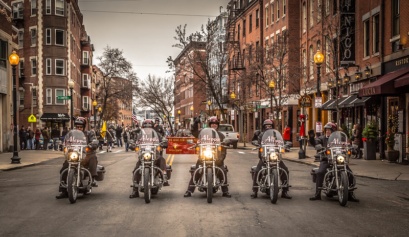 Aleppo Shriners on their Motorcycles in the North End Christmas Parade