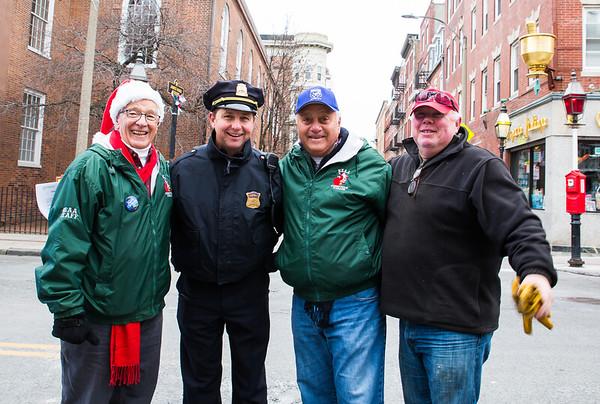 NEAA Organizers and BPD Sgt Tom Lema at the North End Christmas Parade
