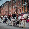Horse and Carriages in the North End Christmas Parade