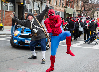 Spiderman and Colonial Warrior Photo Bomb