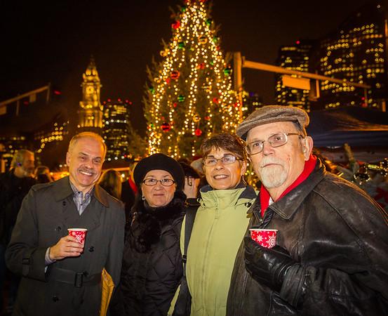 (L-R) Jim Salini, Liz Greene, Friend and Peter Greene