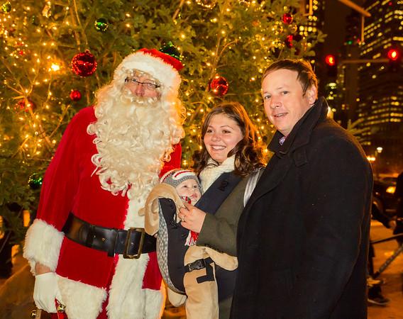 The Taylor Family with Santa