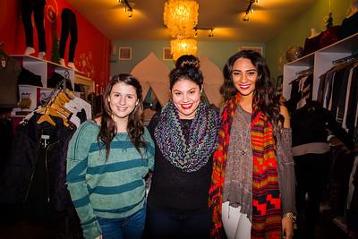 At in-jean-ius (L-R) Megan Carlow, Naomi Levine and Kalia Pimentel