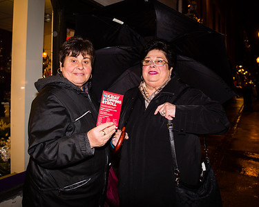 """Michele Tirella and Marie """"Re Re"""" Bamonte on the North End Shopping Stroll"""
