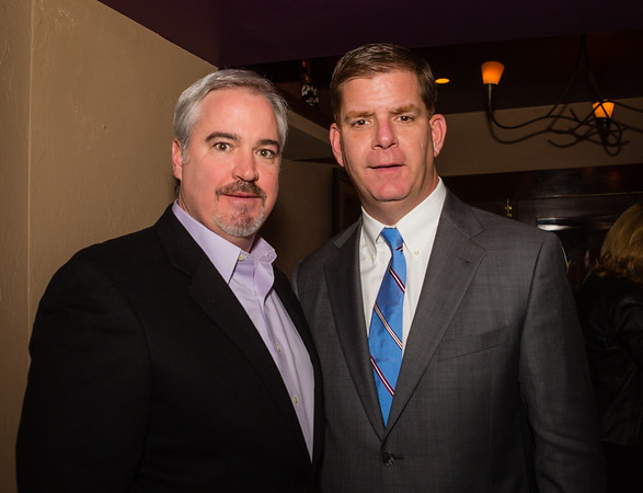 City Councilor-Elect Michael Flaherty (left) and Mayor-Elect Marty Walsh
