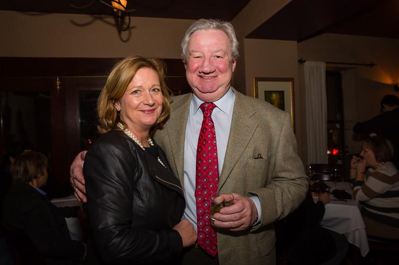 Barbara Cusack and Brian Blinne