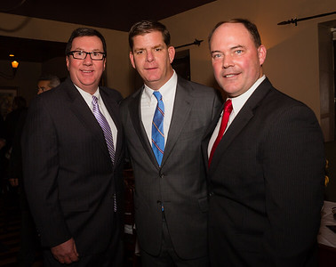 Boston Mayor-Elect Marty Walsh (center) with State Rep. David Nangle and John Rodgers
