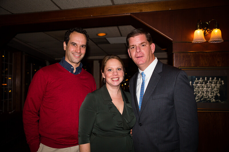 Tim and Becca Griffin with Mayor Elect Marty Walsh