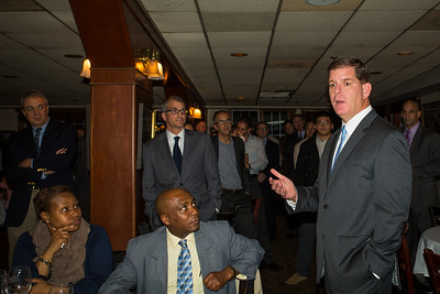 Mayor Elect Marty Walsh Speaks to the Crowd