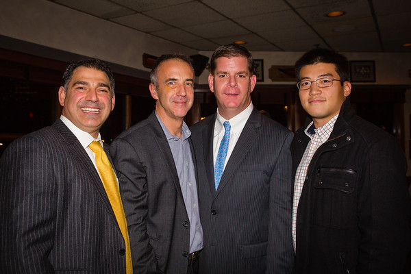 (L-R) Daniel Toscano, J. Frano Violich, Mayor Elect Marty Walsh and Collin Yip