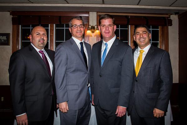 (L-R) Jeff Drago, Daniel Passacantilli, Mayor Elect Marty Walsh and Daniel Toscano