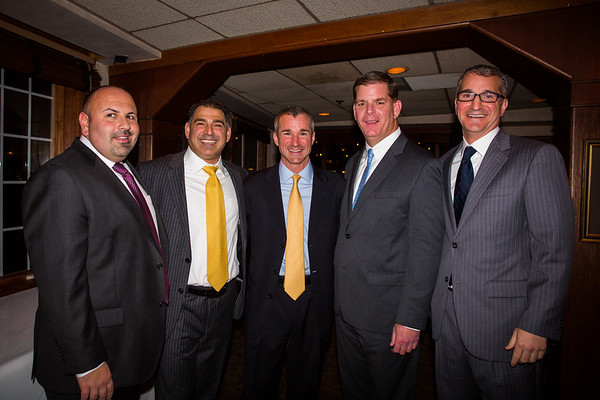 (L-R) Jeff Drago, Daniel Toscano, Stephen Passacantilli, Mayor Elect Marty Walsh and Daniel Passacantilli