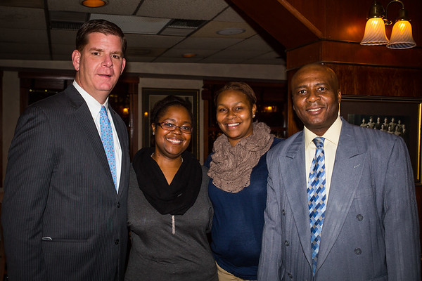 (L-R) Mayor Elect Marty Walsh, Teresia Flemming, Arthenis Sneed and Kempton Flemming