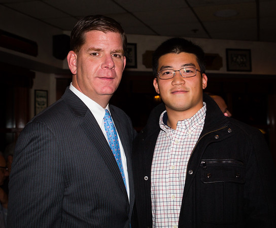 Mayor Elect Marty Walsh and Collin Yip