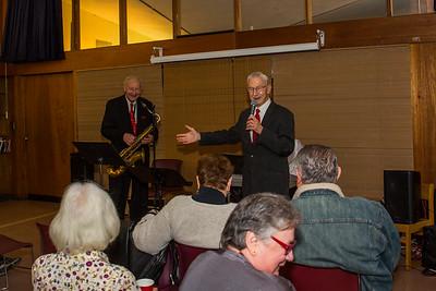 Al Natale welcomes Elmer Broodis on saxophone