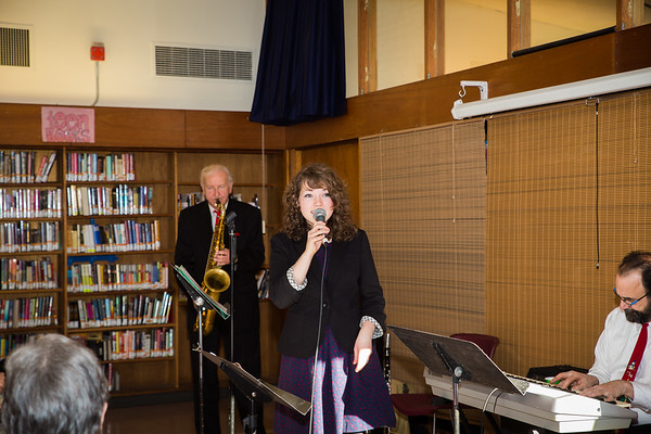 Gillian Desmariais performs at the North End Library Open House