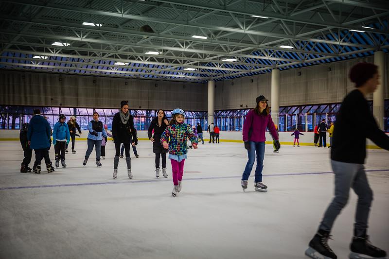 Free ice skating at the Santa Skate