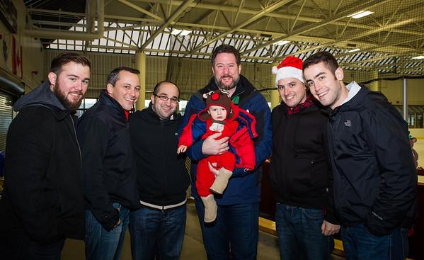 The Boys (L-R) Patrick Lyons, Aaron Michlewitz, Matt Bamonte, Jason Aluia holding MMB Jr., Blake Webber and Conor Finley